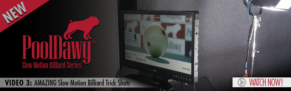 Amazing slow motion billiard trick shots