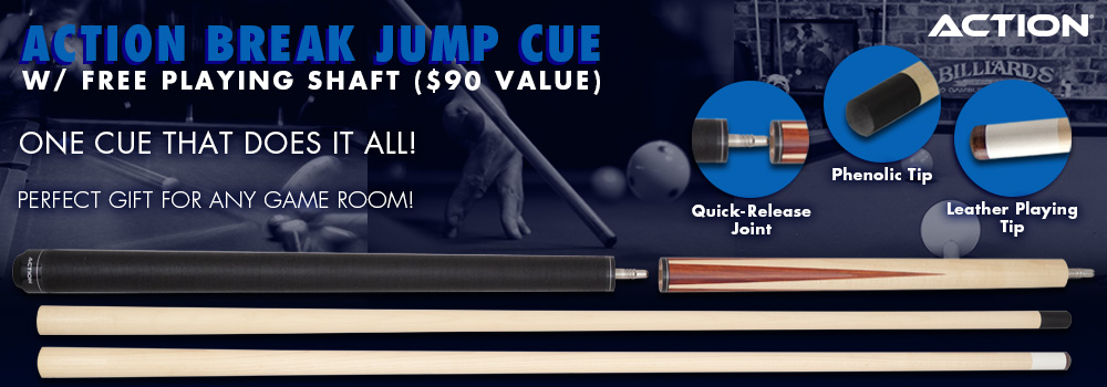Perfect Pool Player Gift - Break Jump cue with FREE Playing Shaft