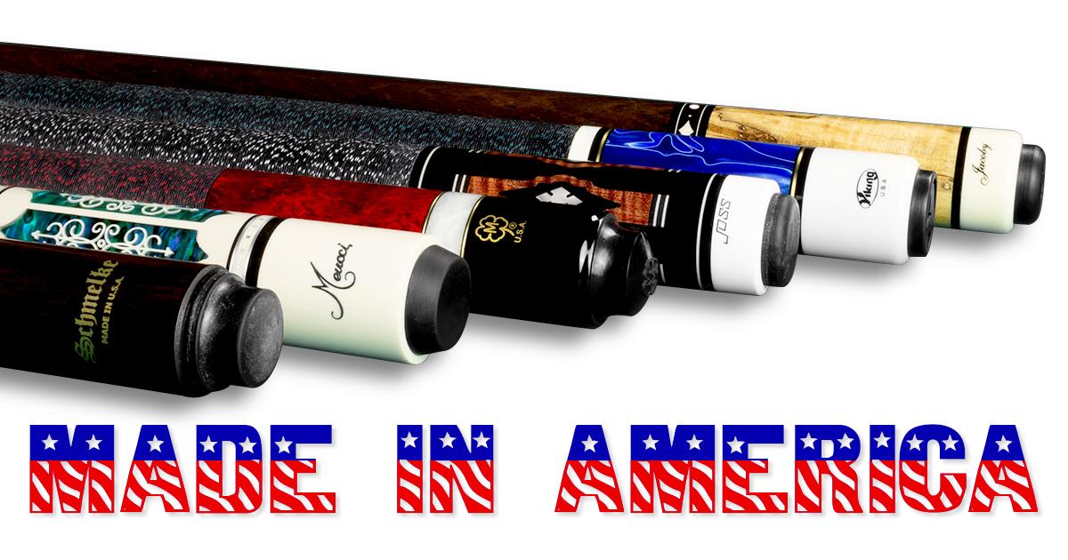 Pool Cues Made in America